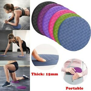 2PCS Portable Round Knee Pad Yoga Mats Elbow Fitness Sport Pad Cushion Anti-slip