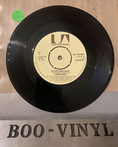 "HAWKWIND - SILVER MACHINE RECORD UP 35381 - 7"" VINYL RECORD EX CON"