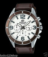 EFR-553L-7B White Casio Men's Watches Edifice Date Day 24h Stopwatch 100m New