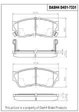 Disc Brake Pad Set-SEMI METALLIC PADS Front Dash 4 Brake MD451