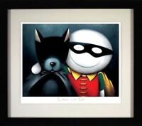 Catman & Robin by Doug Hyde. Signed, Numbered, Mounted & FRAMED. In Stock