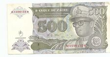 Bank of Zaire 500 Zaires Banknote ~ 15.2.1994