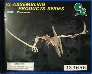 IQ ASSEMBLING PRODUCTS SERIES:D306 PTERANODON by Mysterious Dinosaur Wooden Kit