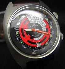 Vintage Fortis Marinemaster Diving Chart Moving Bezel Swiss Automatic Watch