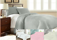 Plain 100% quality brushed cotton flannel duvet cover set thermal all sizes