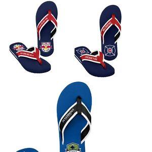 MLS Soccer Team Logo  Label Locker Contour Thong Flip Flops Sandals  - Pick Team