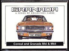 FORD GRANADA  Golden Era Collectors Card Set - MkI & MkII Consul Ghia Sapphire X