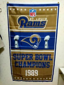Los Angeles Rams Super Bowl Champions Flag 3X5 FT NFL Banner Polyester FAST SHIP