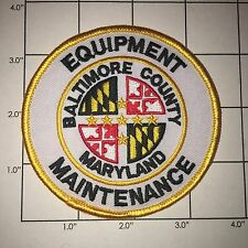 Baltimore County Equipment Maintenance Patch - Maryland