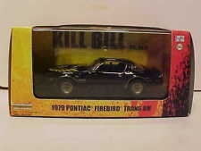 Kill Bill 1979 Pontiac Firebird Trans AM Diecast Car 1:43 Black Greenlight 5inch