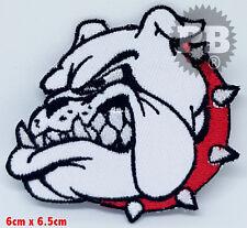 #633 Bulldog Bull Dog British Bulldog Head Iron On Sew On Embroidered Patch