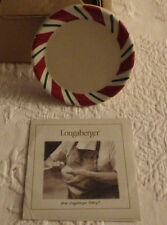 Longaberger Peppermint Twist Coasters Pottery Set of 4 #31875 New Nib 4""