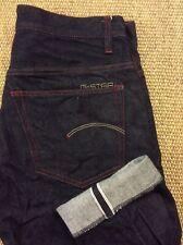 Mens G-STAR Selvedge W31 L35 Selvage Blue Denim Jeans New