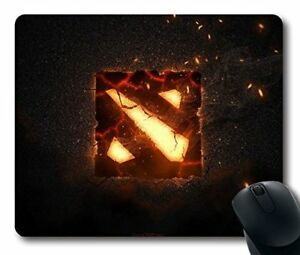 Custom Attractive Mouse Pad with War Cracks Logo Dota 2 Non-Slip Neoprene Rubber