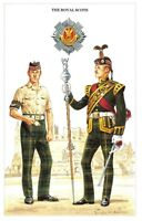 Postcard The British Army Series No.26 The Royal Scotts by Geoff White