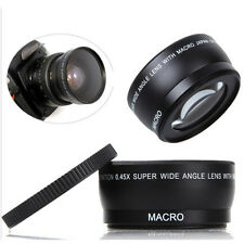 Hot Seller 0.45X 58mm Auto Focus Wide Angle Lens For Canon 550D 400D 450D 500D