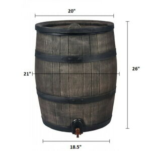 ROTO Water Barrel 50L - Stylish Wood-Effect - Fast UK Delivery