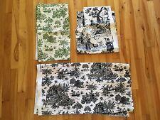 Vintage Toile Decorative Fabric Lot of 3 Pieces : Textile Arts & Film FARMLAND