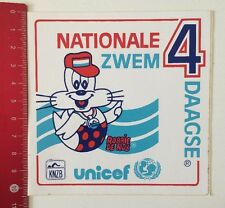 Aufkleber/Sticker: Nationale Zwem 4 Daagse-Unicef KNZB-Robbie De Rob (100616127)