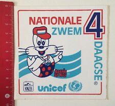 Aufkleber/Sticker: Nationale Zwem 4 Daagse-Unicef KNZB-Robbie De Rob (100616127)