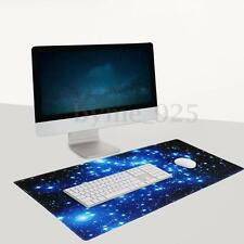 90x40cm PC Computer Desktop Gaming Keyboard Mouse Mat Pad Large Galaxy Non-Slip