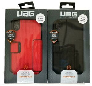 UAG Urban Armor Gear Metropolis Folio Case For iPhone Xs Max (6.5inch) Magma Red