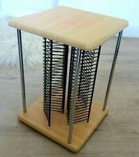 CD Ständer Turm Karussell CD Aufbewahrung 100 CD´s Holz Metall
