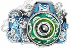 """Photo Camera Photographer Colorful Abstract Car Bumper Vinyl Sticker Decal 5""""X4"""""""