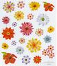 2 Sheets Glitter Pretty Flowers  Planner Stickers Papercraft DIY Craft Scrapbook