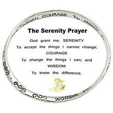 The Serenity Prayer Bracelet Bangle Messages on Bangle Silvertone
