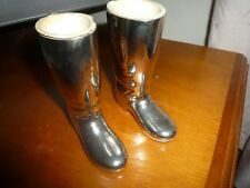 VINTAGE SILVER PLATE RIDING BOOTS SPIRITS MEASURES??