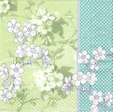 3 Toallas Papel Cocktail Flor Cerezo Japón papel Servilletas Japanese Cherry