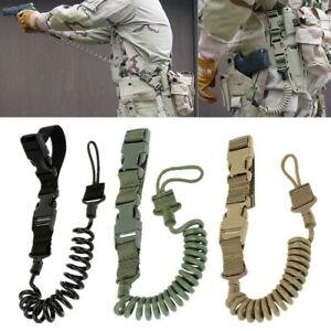 US STOCK Heavy Duty Tactical Pistol Lanyard Airsoft Quick Release Pistol Sling