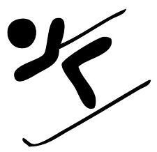 """Downhill skiing Vinyl Decal """"Sticker"""" For Car or Truck Windows, Laptops, etc"""