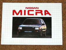 1983 NISSAN MICRA Sales Brochure - 1.0 DX GL Auto - Excellent Condition