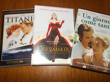 LOTTO 3 DVD KATE WINSLET TITANIC UN GIORNO COME TANTI THE DRESSMAKER