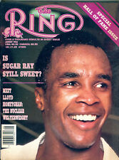 The Ring Boxing Magazine August 1986 Sugar Ray Leonard EX 060616jhe