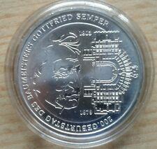 """10 Euro  Silber Gedenkmünze """" 200. Geburtstag Gottfried Semper"""" BRD 2003"""
