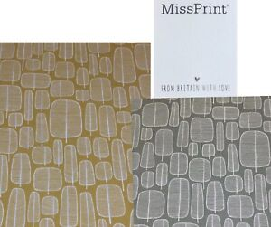Ashley Wilde.MissPrint LittleTrees Cotton Fabric.Upholstery/Curtains/Cushions.
