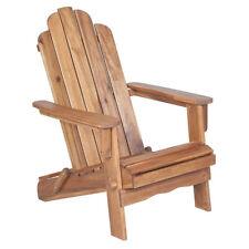Teak Oiled Acacia Hardwood Folding Adirondack Outdoor Patio Deck Chair - New!