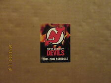 NHL New Jersey Devils Vintage Circa 2001-2002 Logo Hockey Pocket Schedule