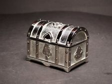 Small Silver Color Jewellery Trinket Pirate Treasure Chest / Box Perfect Gift