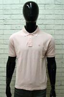 Polo Uomo FILA Taglia M Maglia Shirt Manica Corta Cotone Maglietta Rosa Man