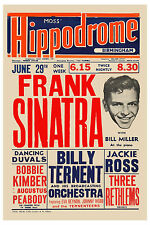 Frank Sinatra at The Hippodrome in Birmingham UK Concert Poster 1953