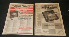 More details for def leppard - pyromania (set of two original 1983 large magazine advertisements)