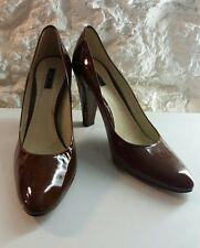 womens brown patent shoes