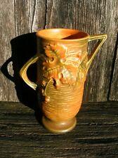Vintage Roseville Art Pottery 29-6 Brown Bushberry Flower Bud Vase