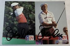 lot of 2 hand signed autographed PGA cards ~ JERRY PATE