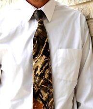 Mens camouflage tie, Realtree Advantage Max 4,camo tie, duck camo