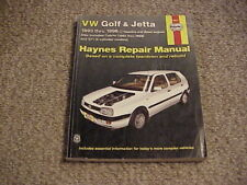 Haynes Manuals: VW Golf and Jetta 1993-1998 (2002, Paperback) / Free Shipping!
